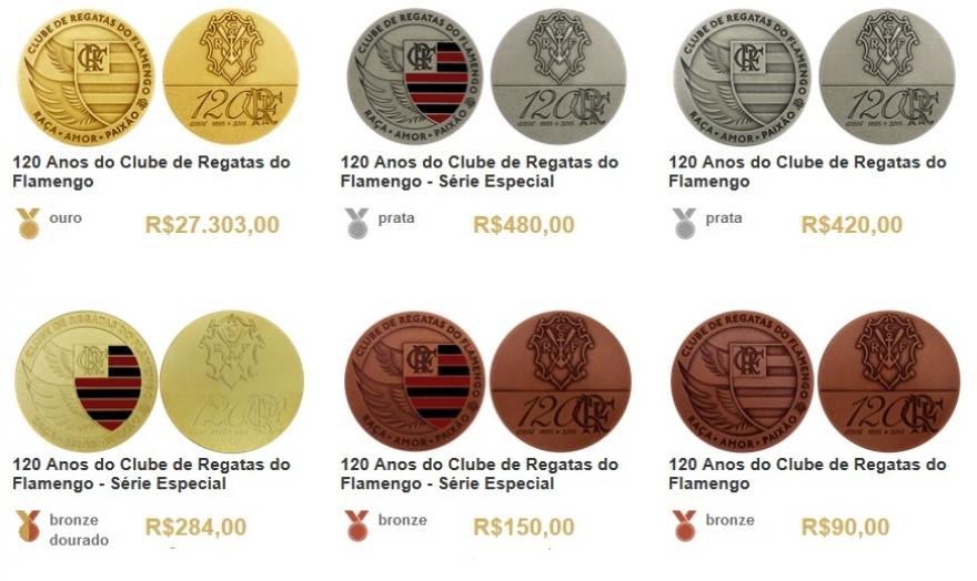 b01555e676 Garanta já sua medalha comemorativa dos 120 anos do Flamengo ...