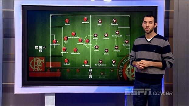 ESPN analisa escalações de Flamengo e Atlético-PR para semifinal da  Primeira.
