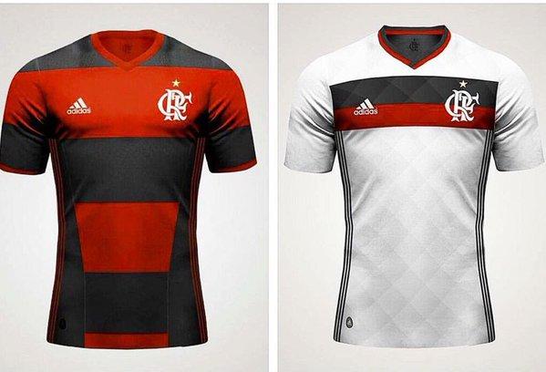 O Flamengo voltará a ter listras rubro-negras grossas em seu novo uniforme  neste ano fb8202be6ed94