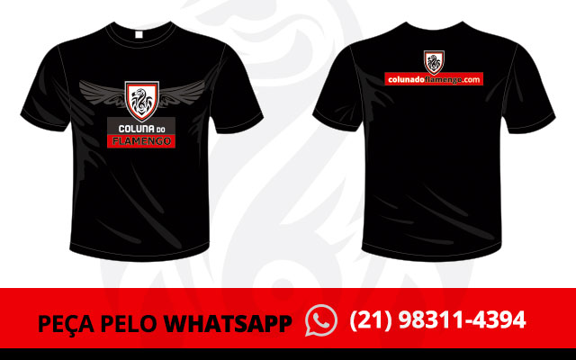 52c4528157476 Agora você pode pedir sua camiseta Coluna do Flamengo pelo Whatsapp