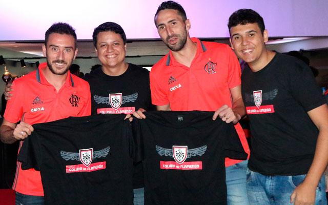 Com Mancuello e Donatti, na Casa Flamengo