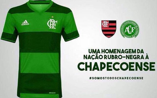 2f9c4da69acbc O Flamengo encaminhou para sua comissão de uniformes uma proposta de  homenagem à Chapecoense na última rodada do Brasileiro