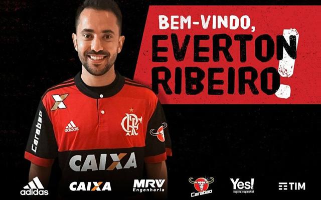 É do Mengão! Fla anuncia contratação de Éverton Ribeiro 7736f00fa62fb
