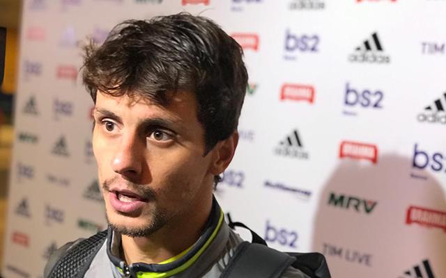 Resultado de imagem para Autor do gol da vitória, Rodrigo Caio diz que reencontrou alegria de jogar futebol no Flamengo