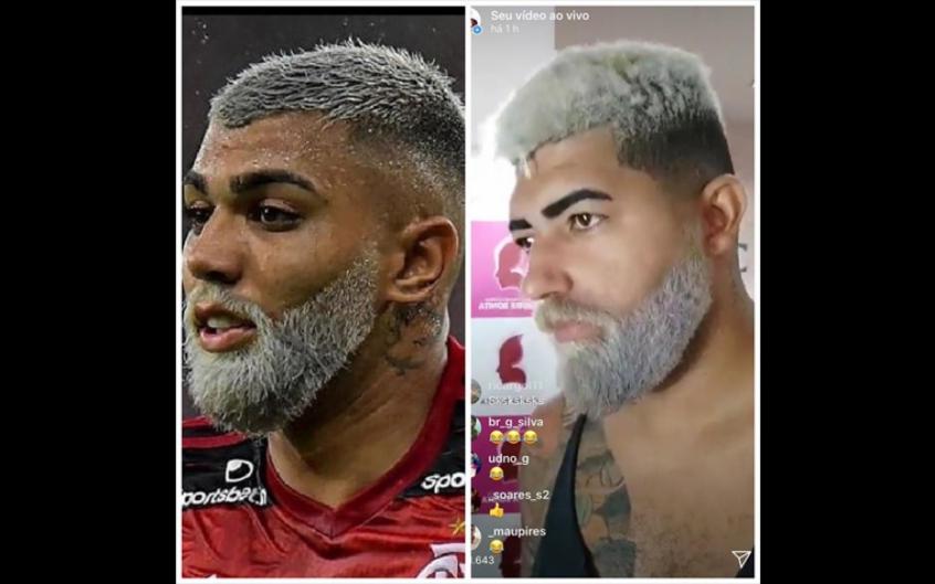"""""""Gabigol da torcida"""" descolore barba para ficar parecido com camisa 9 do Flamengo"""