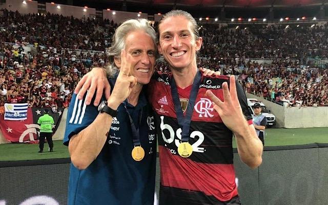 """""""Eu não concordei"""", Filipe Luís revela estratégia de Jorge Jesus para vencer Santos em 2019"""