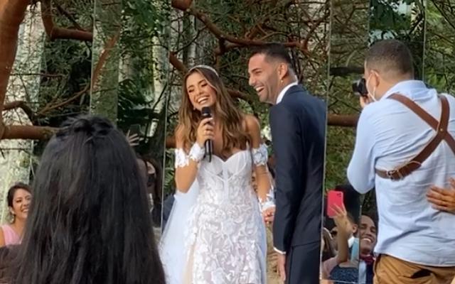 Thiago Maia celebra casamento com a cantora Isadora Pompeo