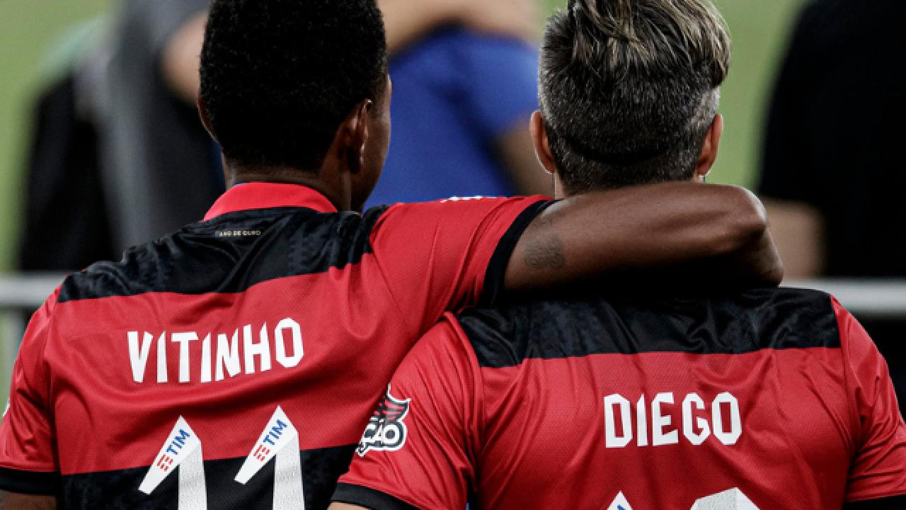 Diego exalta golaço de Vitinho em vitória do Flamengo contra o Volta  Redonda - Flamengo   Coluna do Fla